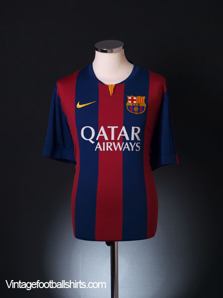 2014-15 Barcelona Home Shirt *Mint* XL
