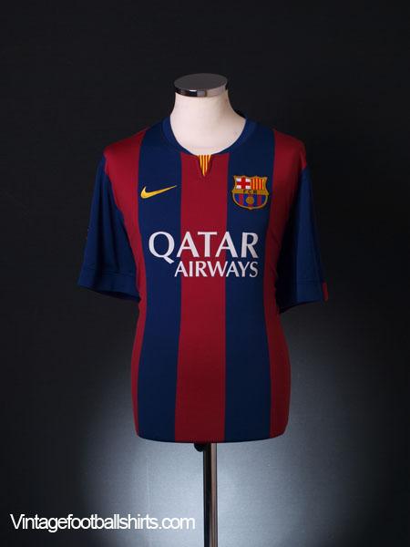 2014-15 Barcelona Home Shirt *Mint* XXL