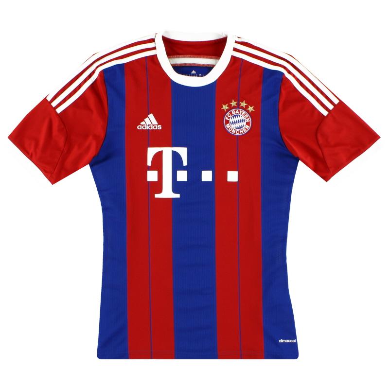 2014-15 Bayern Munich adidas Home Shirt S - F48499