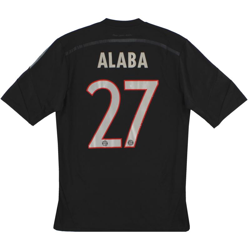 2014-15 Bayern Munich adidas Third Shirt Alaba #27 S - F48405