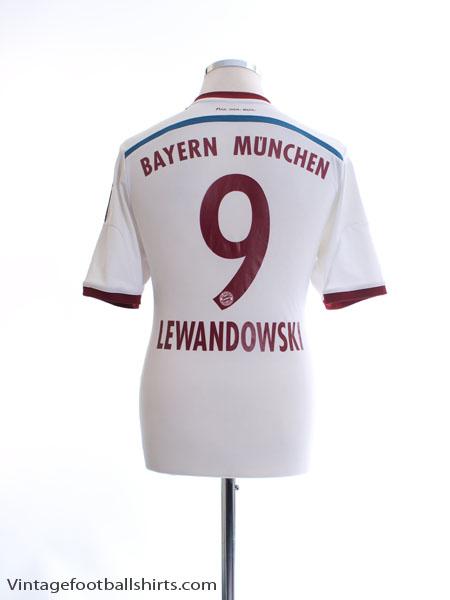 2014-15 Bayern Munich Away Shirt Lewandowski #9 M - F48414
