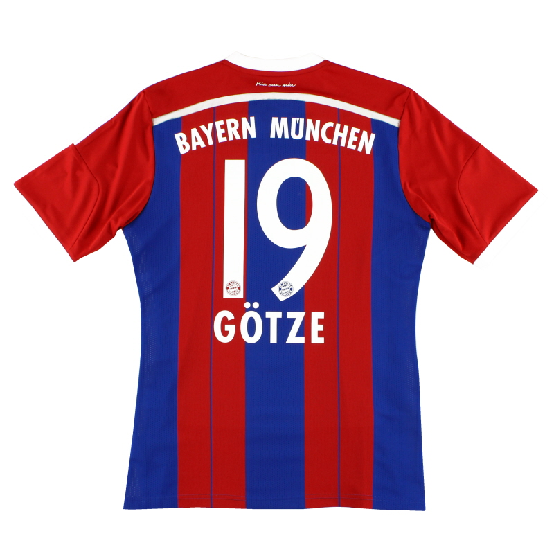 2014-15 Bayern Munich Home Shirt Gotze #19 M - F48499