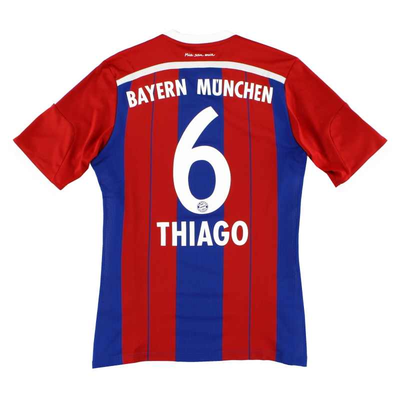 2014-15 Bayern Munich Home Shirt Thiago #6 S - F48499
