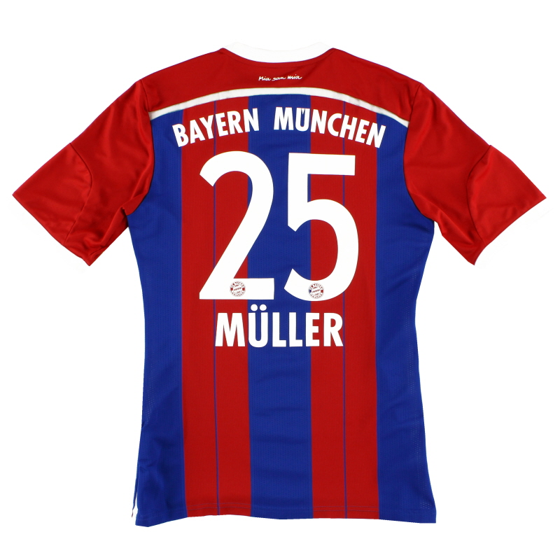 2014-15 Bayern Munich Home Shirt Muller #25 M - F48499