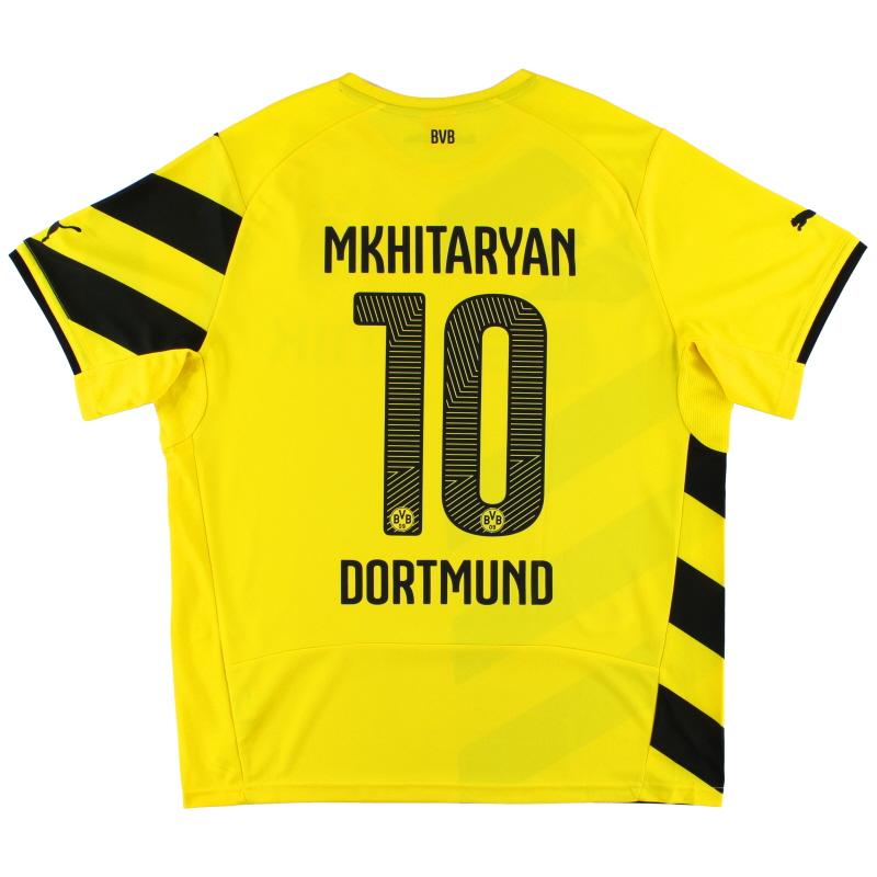 2014-15 Borussia Dortmund Home Shirt Mkhitaryan #10 XL