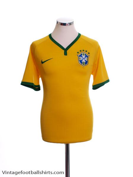 2014-15 Brazil Home Shirt #10 L - 575281-703