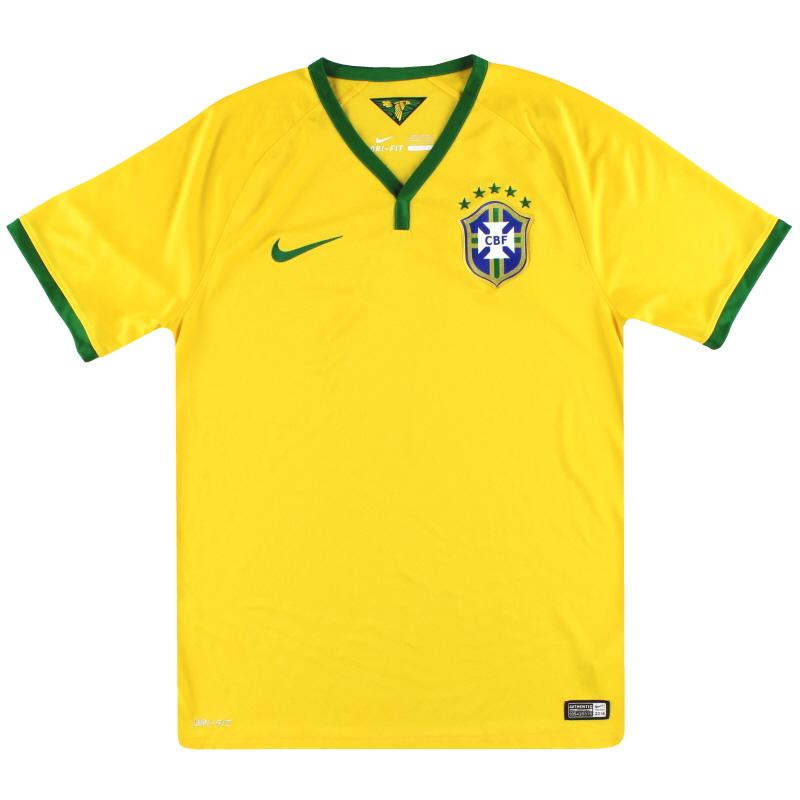 2014-15 Brazil Nike Home Shirt L