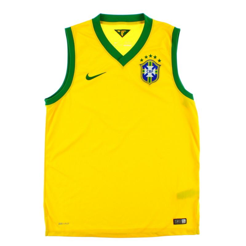 2014-15 Brazil Nike Training Vest L - 575287-703