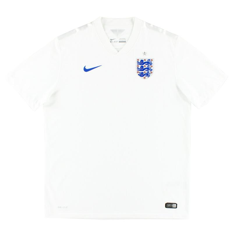 2014-15 England Home Shirt L