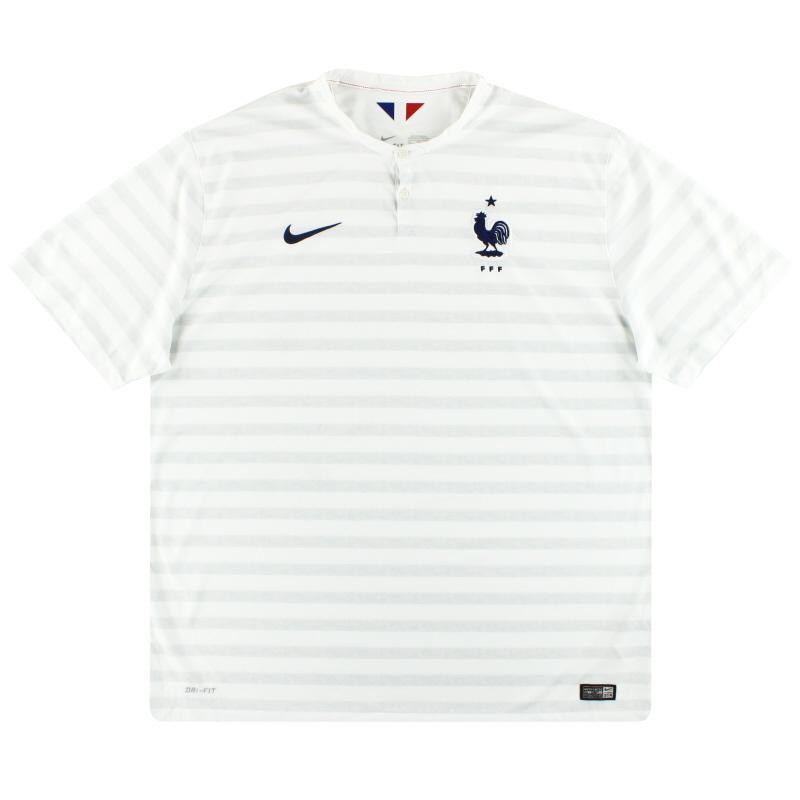 2014-15 France Nike Away Shirt XXL - 577927-105