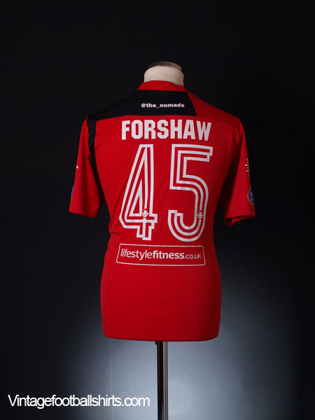 2014-15 Gap Connah's Quay Player Issue Home Shirt Forshaw #45 L