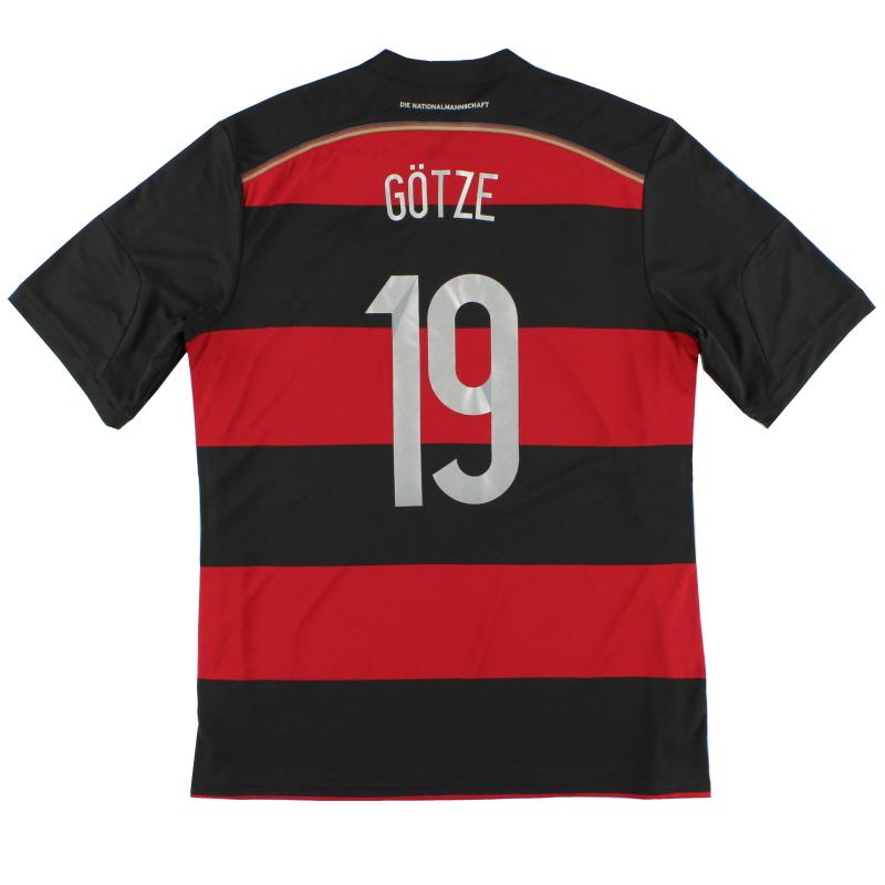 2014-15 Germany Away Shirt Gotze #19 *Mint* XL - M35024