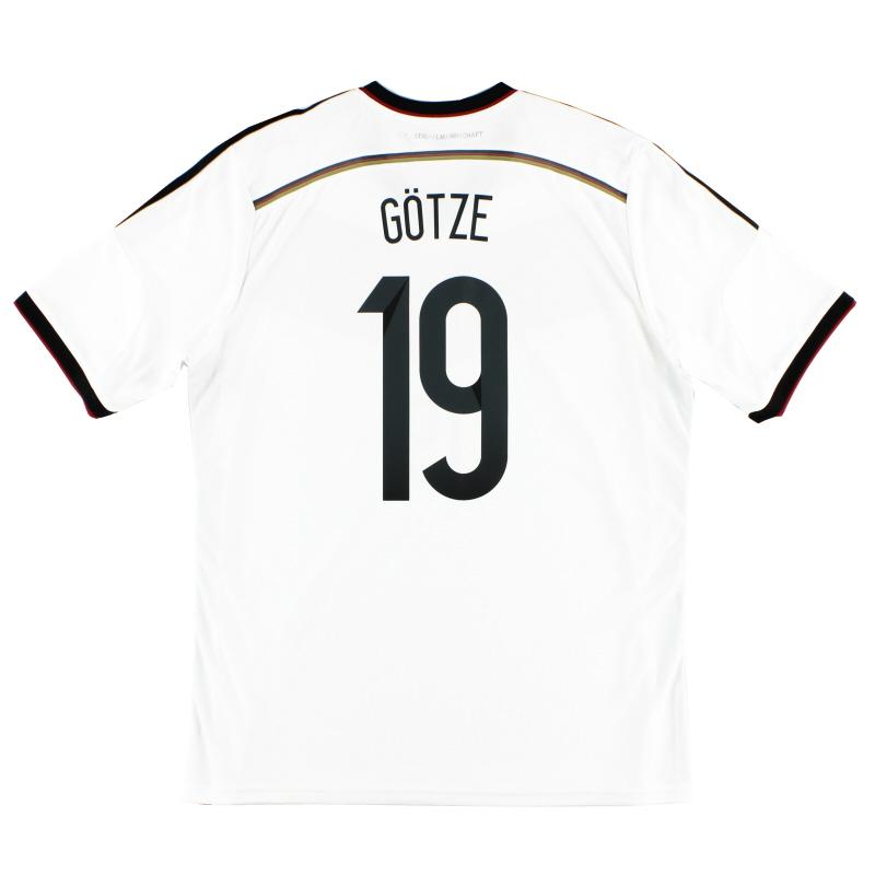 2014-15 Germany Home Shirt Gotze #19 XXL