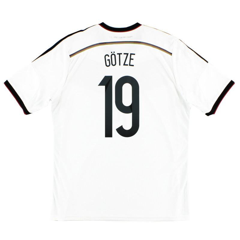 2014-15 Germany Home Shirt Gotze #19 *Mint* XL