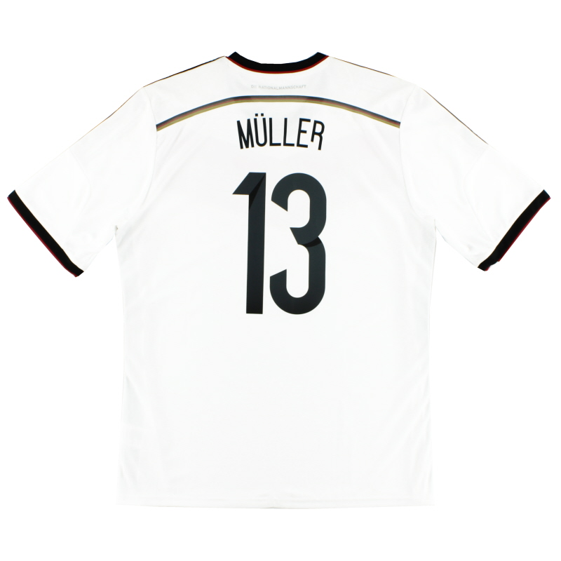 2014-15 Germany Home Shirt Muller #13 XL