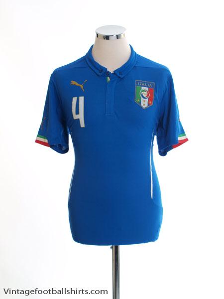 2014-15 Italy Home Shirt #4 *BNWT* M - 701852