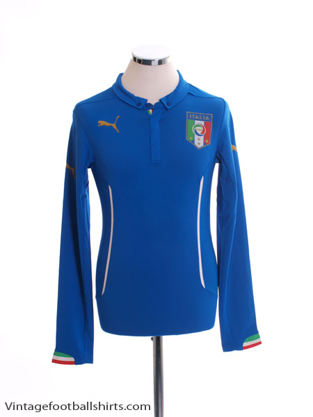 2014-15 Italy Player Issue Home Shirt L/S (ACTV Fit) *BNIB*