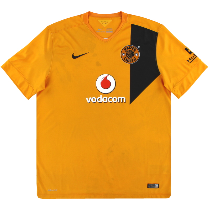 2014-15 Kaizer Chiefs Nike Home Shirt L - 619237-761