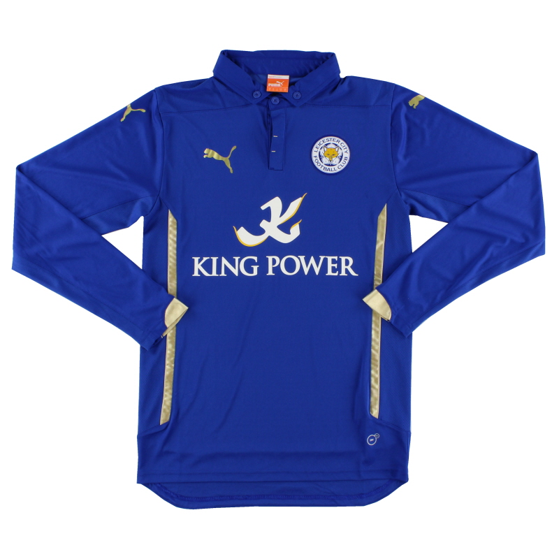 2014-15 Leicester Home Shirt L/S S