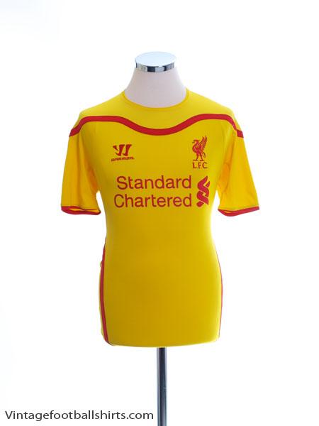 2014-15 Liverpool Away Shirt S - WSTM404