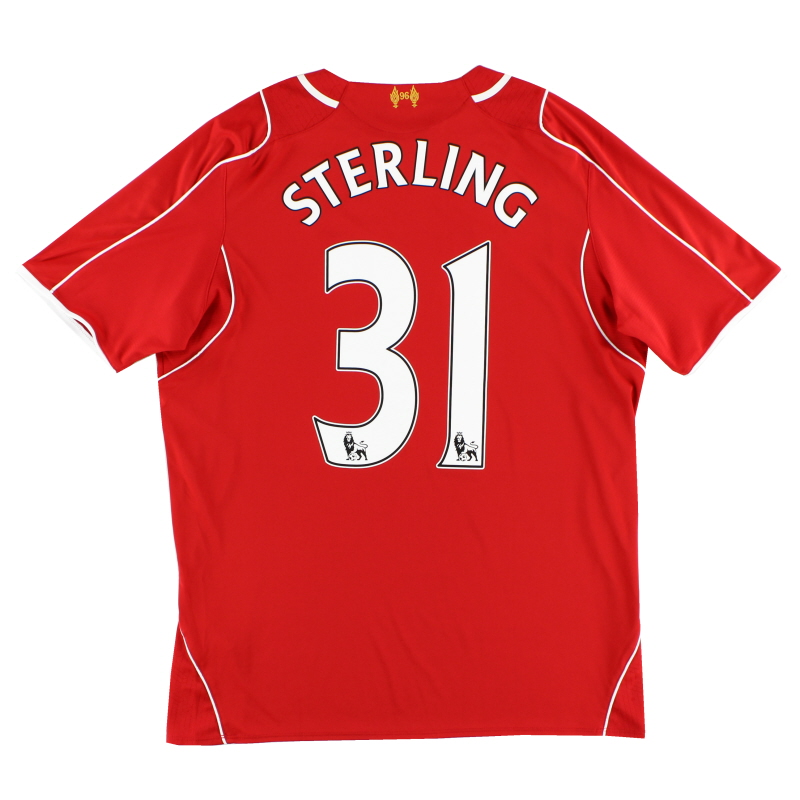 2014-15 Liverpool Home Shirt Sterling #31 L
