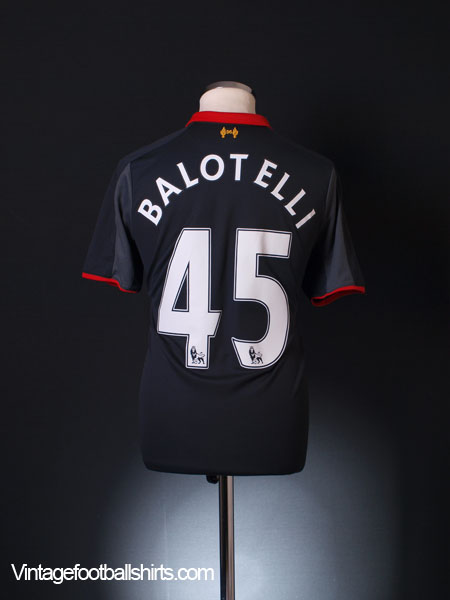 2014-15 Liverpool Third Shirt Balotelli #45 M