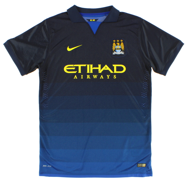 2014-15 Manchester City 'Authentic' Away Shirt *Mint* XL - 478323-410