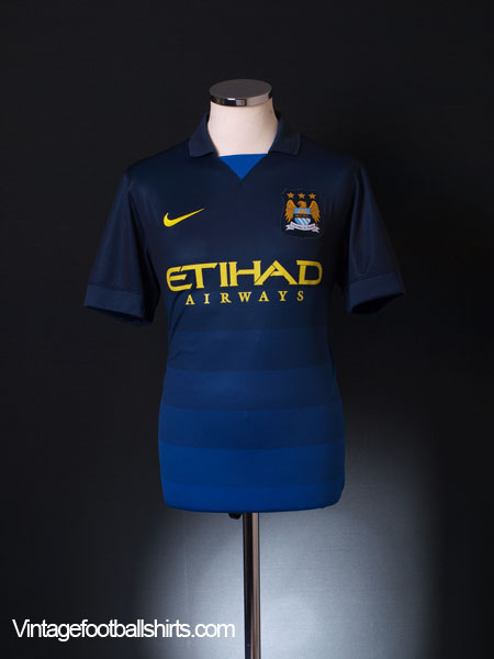 2014-15 Manchester City Away Shirt *Mint* S