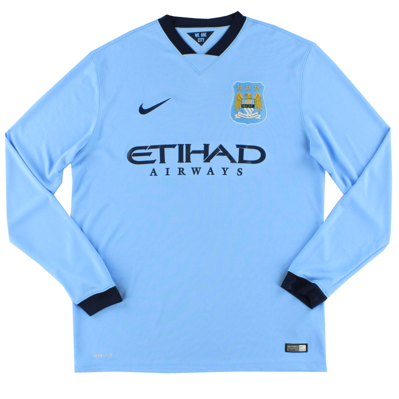 2014-15 Manchester City Home Shirt L/S L