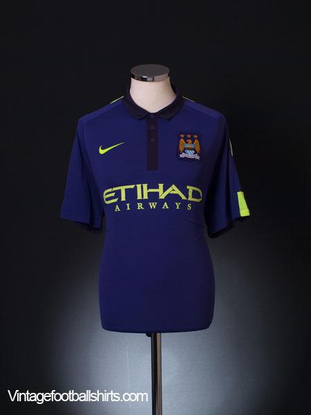 2014-15 Manchester City Third Shirt *Mint* L