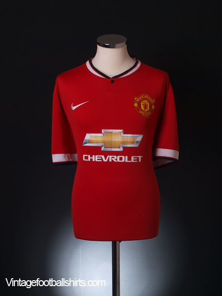 2014-15 Manchester United Home Shirt M