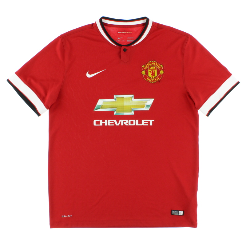 2014-15 Manchester United Home Shirt *Mint* M - 611031-624