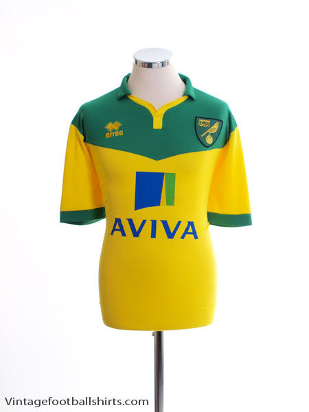 2014-15 Norwich City Home Shirt XL