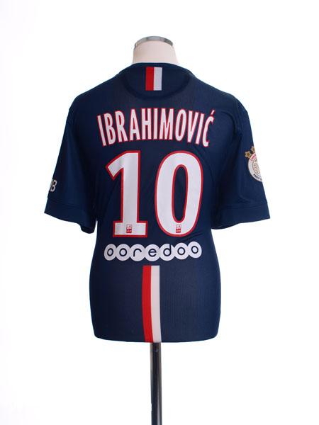 2014-15 Paris Saint-Germain Authentic Home Shirt Ibrahimovic #10 *Mint* XL