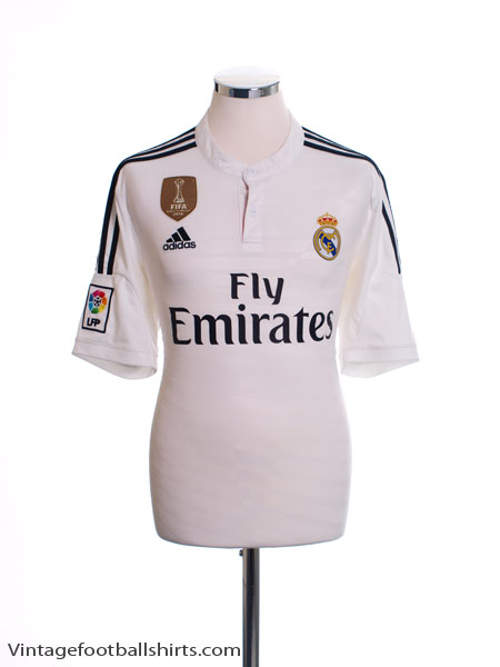 2014-15 Real Madrid Home Shirt *Mint* L