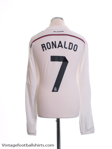 4ae4f0080 2014-15 Real Madrid Home Shirt Ronaldo  7 L S  Mint  XL for sale
