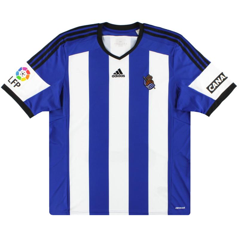 2014-15 Real Sociedad adidas Home Shirt XL - S07410