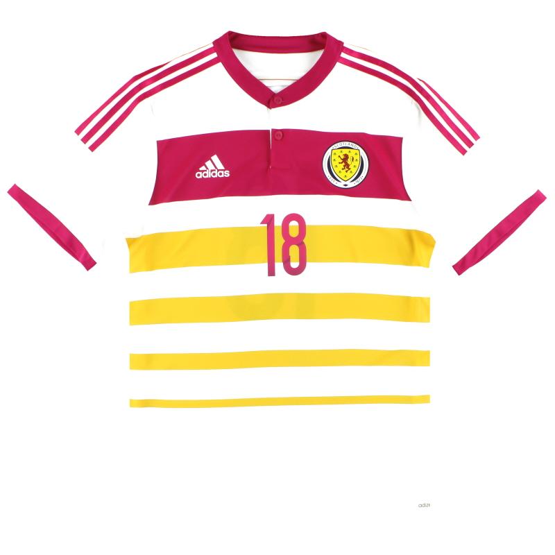 2014-15 Scotland adidas Player Issue adizero Away Shirt #18 *As New* - M62354