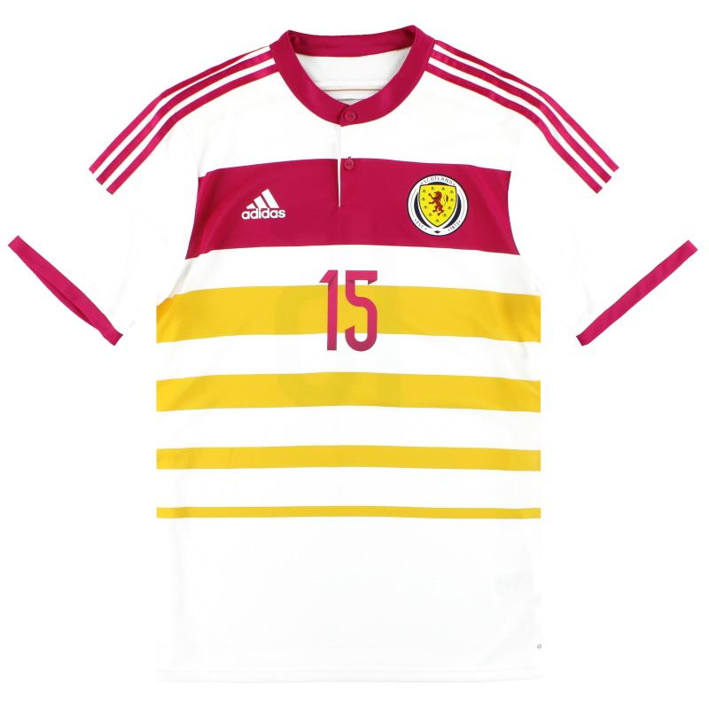 2014-15 Scotland adidas Player Issue adizero Away Shirt #15 *As New* - M62354