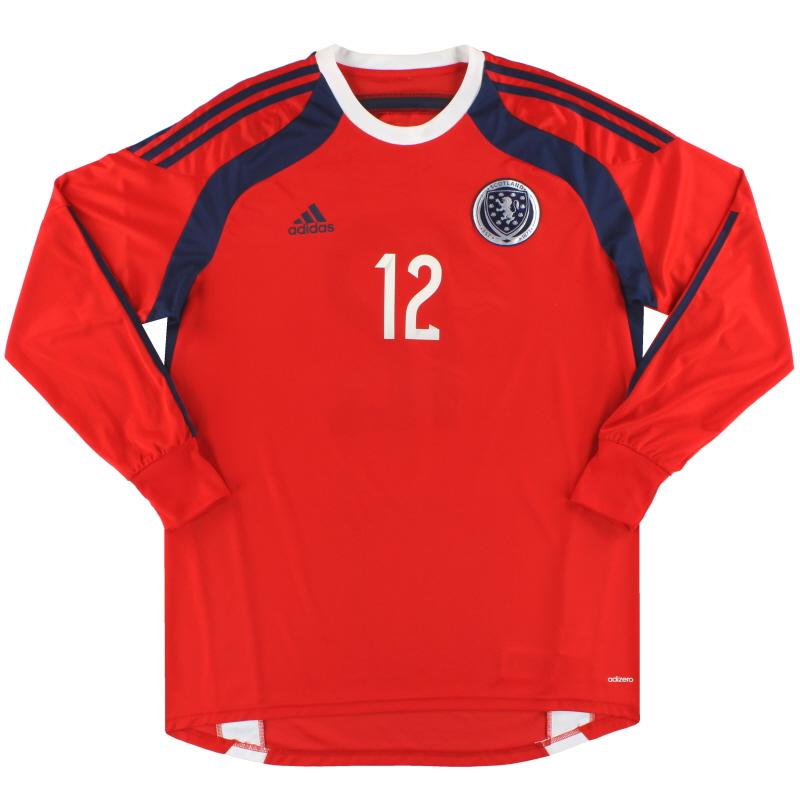 2014-15 Scotland adidas adizero Goalkeeper Shirt #12 *As New* - D86713