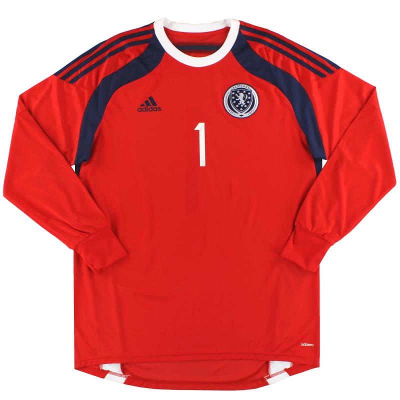 2014-15 Scotland adidas adizero Goalkeeper Shirt #1 *As New* - D86713