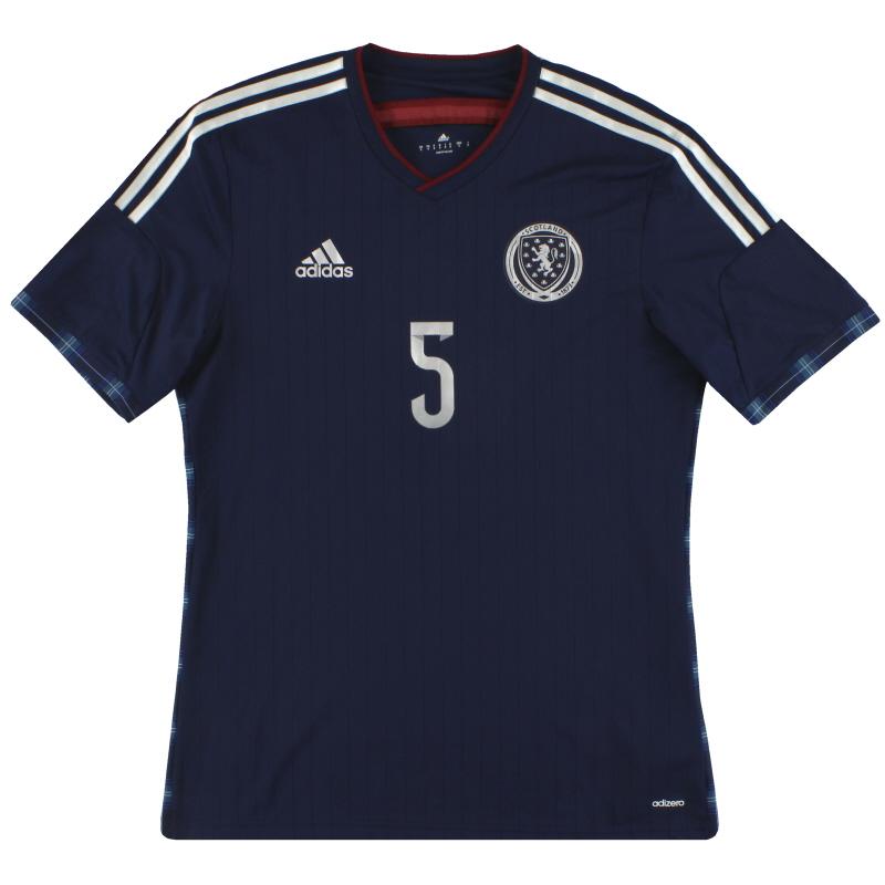 2014-15 Scotland adidas adizero Player Issue Home Shirt #5 *As New*  - G87118