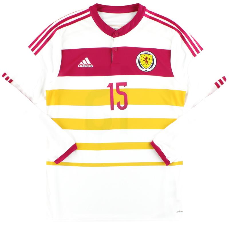2014-15 Scotland adidas Player Issue adizero Away Shirt #15 L/S *As New* - M62355