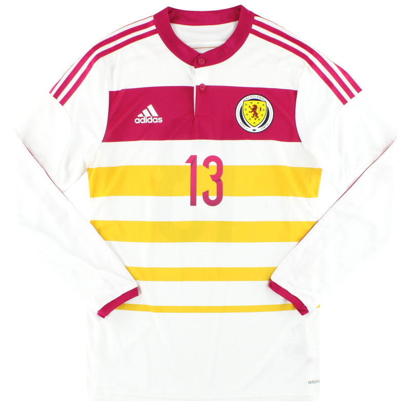 2014-15 Scotland adidas Player Issue adizero Away Shirt #13 L/S *As New* - M62355