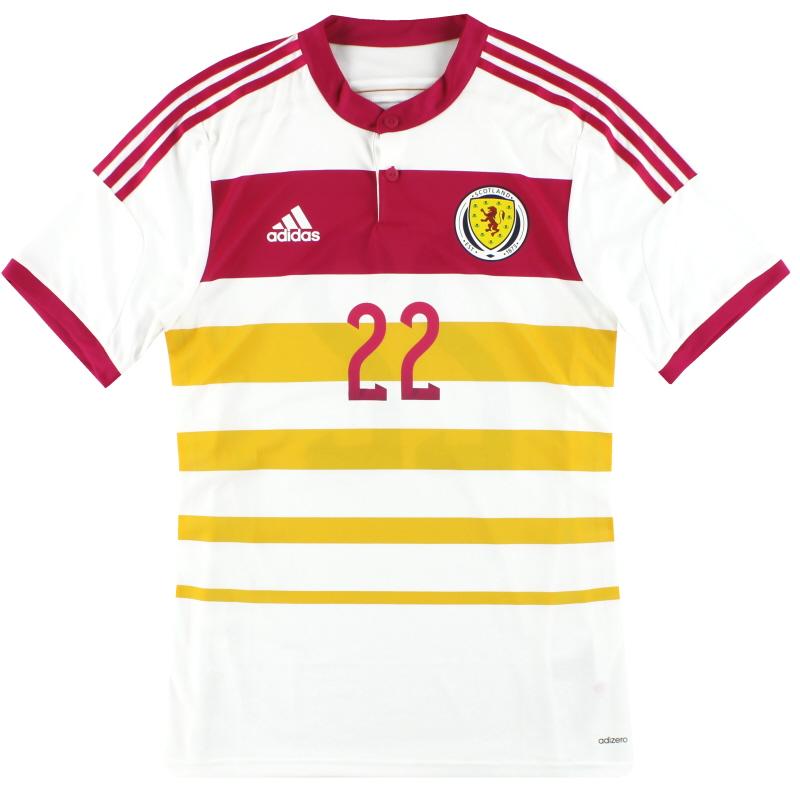 2014-15 Scotland adidas Player Issue adizero Away Shirt #22 *As New* - M62354