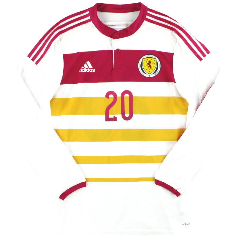 2014-15 Scotland adidas Player Issue adizero Away Shirt #20 L/S *As New* - M62355
