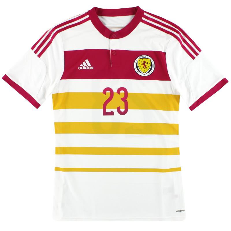 2014-15 Scotland adidas Player Issue adizero Away Shirt #23 *As New* - M62354
