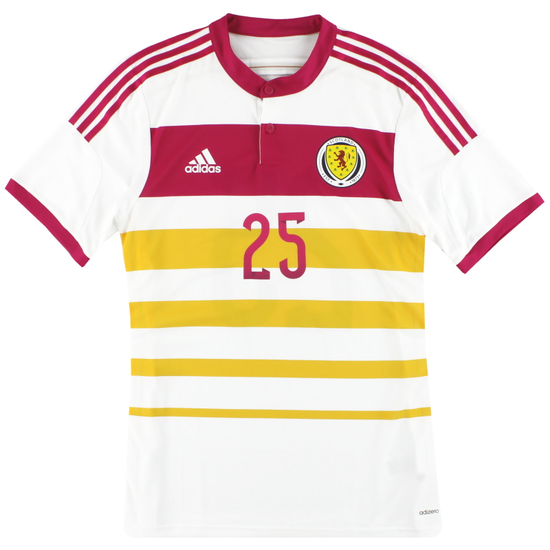 2014-15 Scotland adidas Player Issue adizero Away Shirt #25 *As New* L - M62354