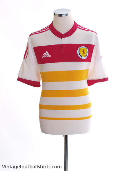 2014-15 Scotland Player Issue Adizero Away Shirt XL - M62354