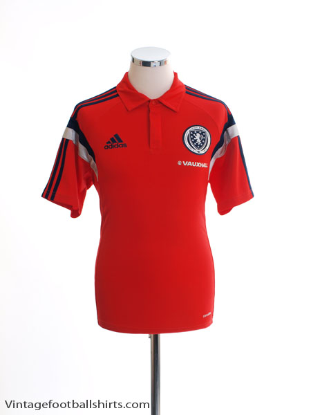 2014-15 Scotland adidas Polo Shirt M